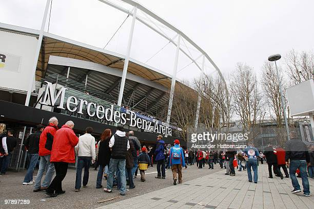 A general view of MercedesBenz Arena is taken prior the Bundesliga match between VfB Stuttgart and Hannover 96 at MercedesBenz Arena on March 20 2010...