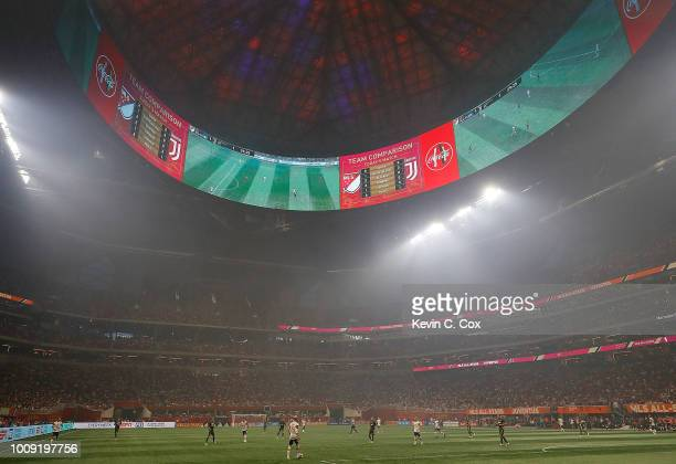 A general view of MercedesBenz Stadium during the 2018 MLS AllStar Game between the MLS AllStars and Juventus on August 1 2018 in Atlanta Georgia