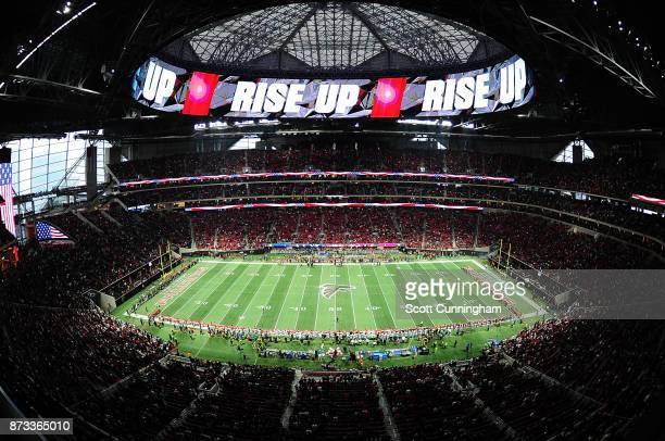 A general view of MercedesBenz Stadium prior to the game between the Atlanta Falcons and the Dallas Cowboys on November 12 2017 in Atlanta Georgia