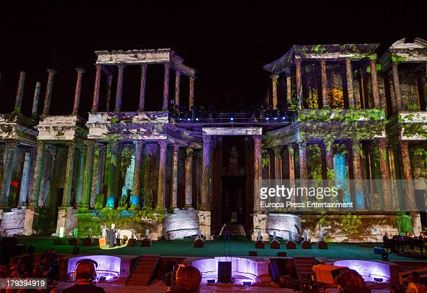 General view of Merida Theatre during the International Classic Theatre Festival on August 30 2013 in Merida Spain