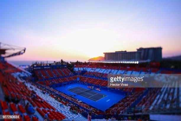 General view of Mextenis Stadium during the Championship match between Stefanie Voegele of Switzerland and Lesia Tsurenko of Ukraine as part of the...
