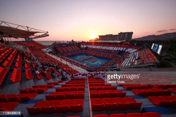 General view of Mextenis Stadium during the final match between Yafan Wang of China and Sofia Kenin of United States as part of the day 6 of the...