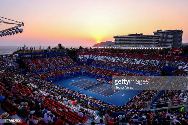 General view of Mextenis Stadium during the match between Alexei Popyrin of Australia and Alexander Zverev of Germany as part of the day 2 of the...