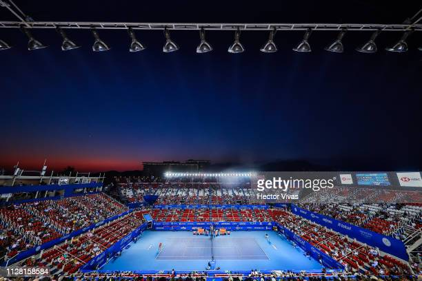 General view of Mextenis Stadium during the quarterfinals match between Alex de Minaur of Australia and Alexander Zverev of Germany as part of the...