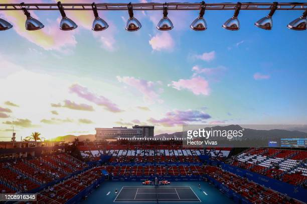 General view of Mextenis Stadium during the singles match between Tommy Paul of USA and Alexander Zverev of Germany as part of the ATP Mexican Open...