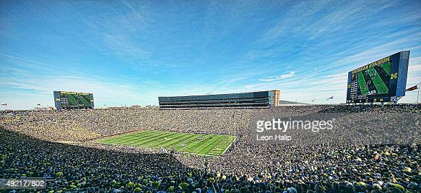 General view of Michigan Stadium during the game between the Michigan Wolverines and the Northwestern Wildcats on October 10 2015 at Michigan Stadium...