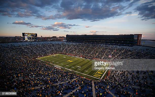 General view of Michigan Stadium during the Michigan Football Spring Game on April 1 2016 at Michigan Stadium in Ann Arbor Michigan