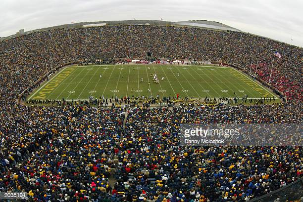 A general view of Michigan Stadium The Big House during the game between the University of Michigan Wolverines and the University of WisconsinMadison...
