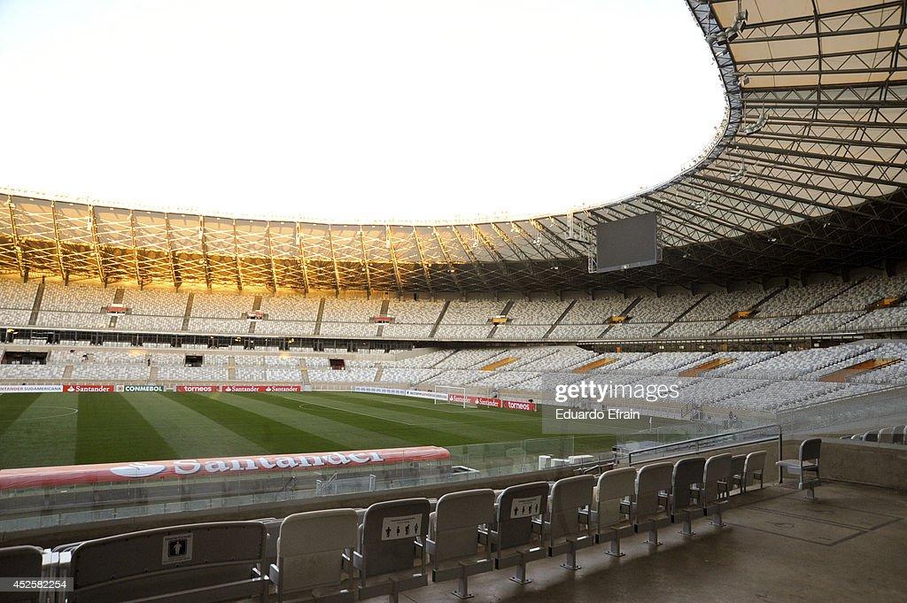 Atletico Mineiro v Lanús - Recopa Santander Sudamericana 2014 : News Photo