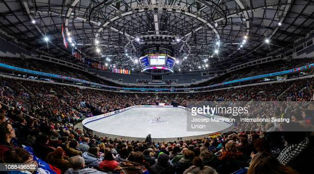 General view of Minsk Arena as Anita Ostlund of Sweden competes in the Ladies Free Skating during day three of the ISU European Figure Skating...