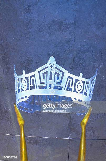 General view of Miss America 2014 statue crown during the 2014 Miss America Competition at Boardwalk Hall Arena on September 15 2013 in Atlantic City...