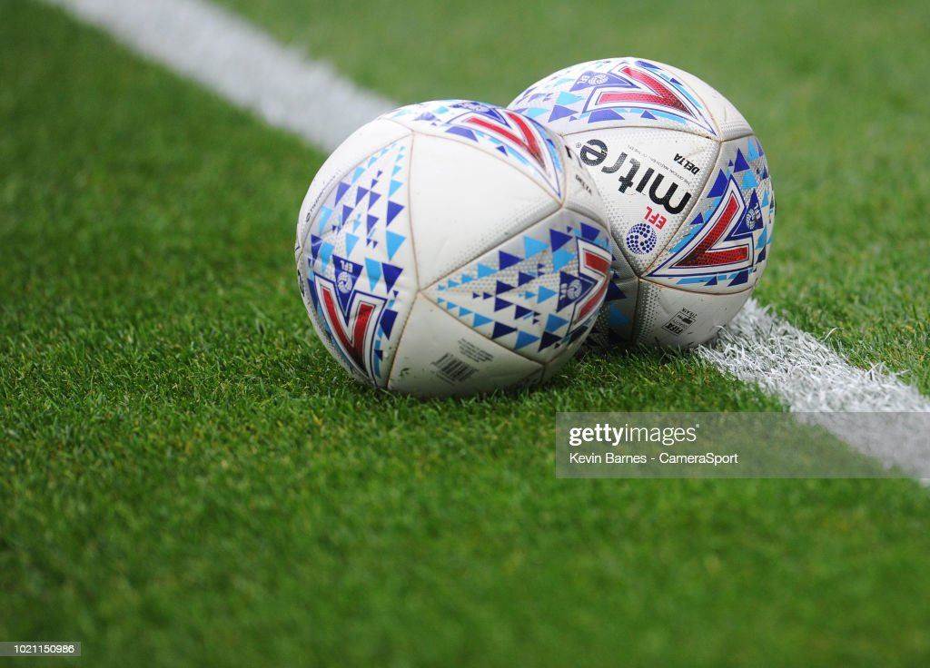 A general view of Mitre EFL match balls during the Sky Bet Championship match between City and Leeds United at Liberty Stadium on August 21, 2018 in Swansea, Wales.