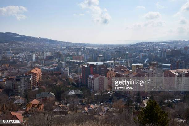 General view of Mitrovica from the Serbian area of Mitrovica on February 20 2017 in Mitrovica Kosovo The new US Trump administration reaffirmed its...