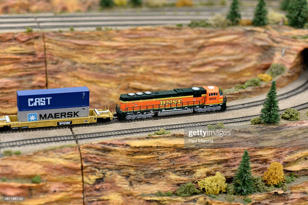 A general view of model train layouts at the Greenberg's National