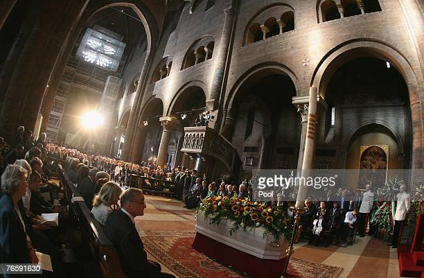 A general view of Modena's Duomo is seen during Luciano Pavarotti's funeral on September 8 2007 in Modena Italy Pavarotti died of pancreatic cancer...