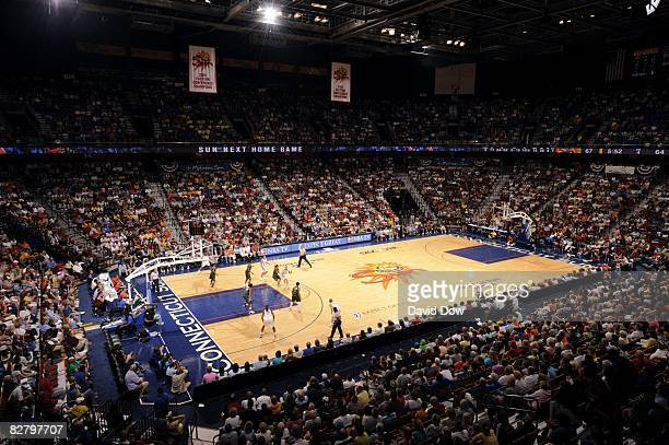 General view of Mohegan Sun Arena during the WNBA game between the Connecticut Sun and the Seattle Storm on August 31, 2008 in Uncansville,...