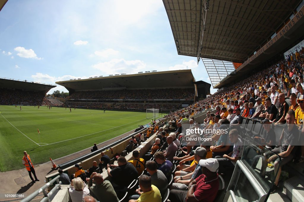 A general view of Molineux during the pre-season friendly match between Wolverhampton Wanderers and Villareal at Molineux on August 4, 2018 in Wolverhampton, England.