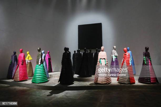 A general view of Moncler Genius during Milan Fashion Week on February 20 2018 in Milan Italy