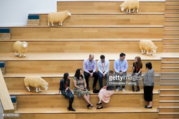 A general view of Moneypenny Headquarters as as staff await the arrival of Prince Charles during his annual Summer visit to Wales on July 14 2017 in...
