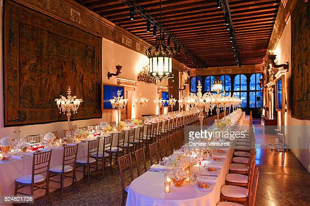 General view of Montblanc Arts Patronage Award 25th Anniversary Gala Diner at Palazzo Polignac on April 26 2016 in Venice
