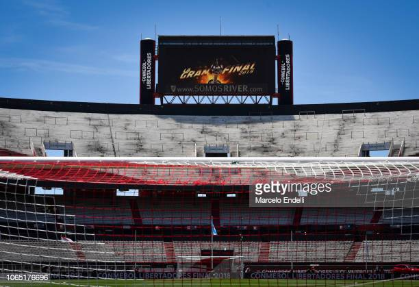 General view of Monumental Stadium prior the second leg of the final of Copa CONMEBOL Libertadores 2018 between River Plate and Boca Juniors at...