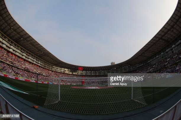 General view of Monumental Stadium prior to a match between Peru and Colombia as part of FIFA 2018 World Cup Qualifiers at Monumental Stadium on...