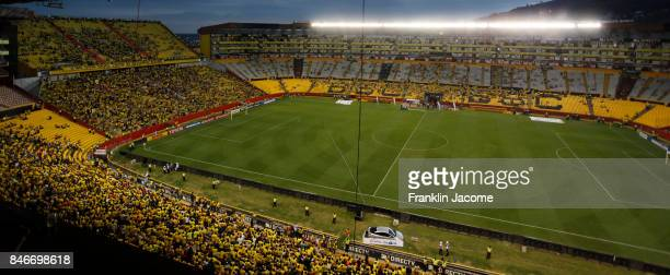 General view of Monumental Staidum prior to a match between Barcelona SC and Santos as part of quarter finals of Copa CONMEBOL Libertadores...