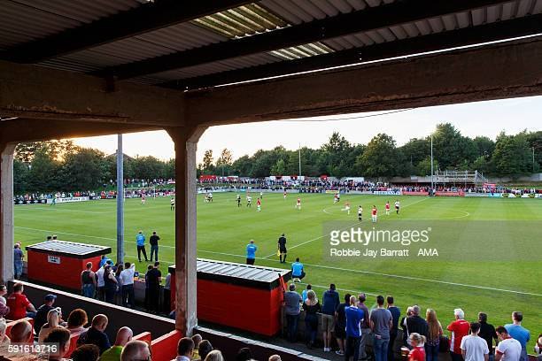 A general view of Moor Lane home stadium of Salford City during the Vanarama Conference North match between Salford City and FC United of Manchester...