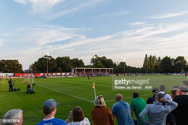 A general view of Moor Lane stadium home of Salford City during the Vanarama Conference North match between Salford City and FC United of Manchester...