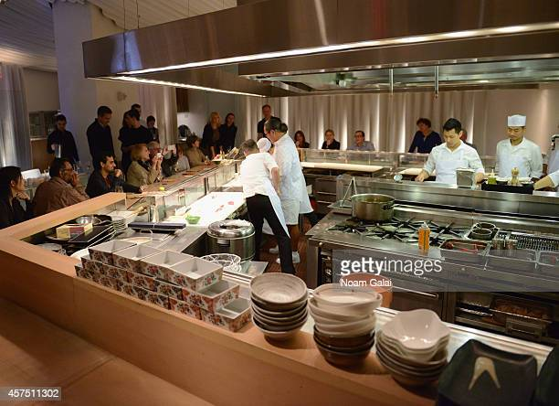 A general view of Morimoto at Master Sushi Rolling Class With Morimoto during Food Network New York City Wine Food Festival Presented By FOOD WINE at...