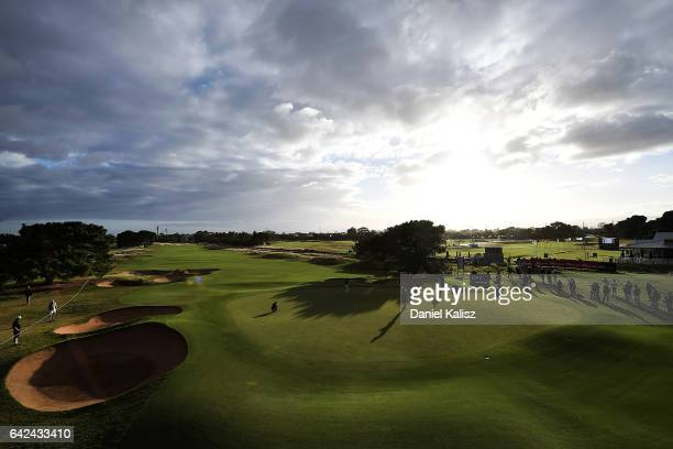 General view of morning play during round three of the ISPS Handa Women's Australian Open at Royal Adelaide Golf Club on February 18, 2017 in...