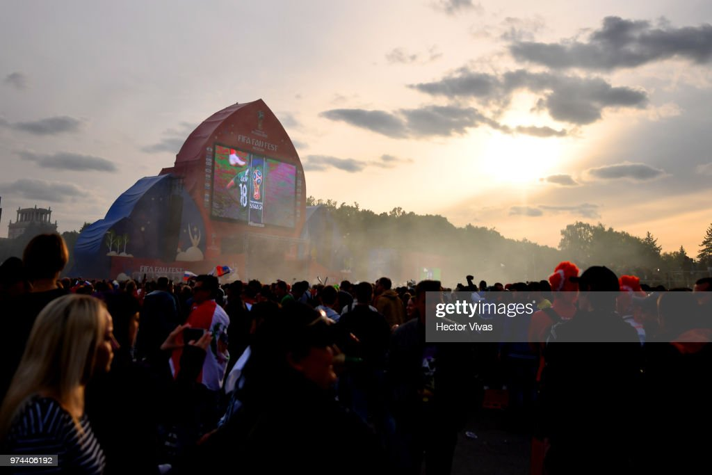 General view of Moscow Fan Fest during the 2018 FIFA World Cup Russia group A match between Russia and Saudi Arabia at FIFA Fans Fest Moscow on June 14, 2018 in Moscow, Russia.