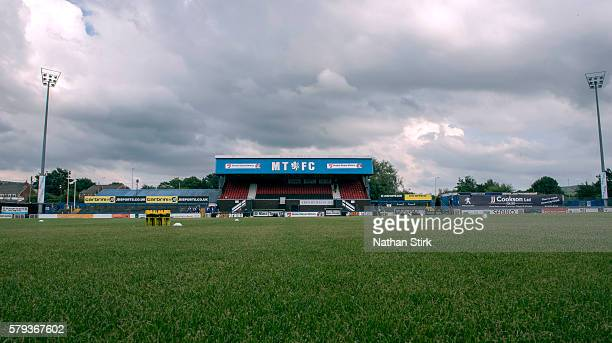 General view of Moss Rose Ground prior to the PreSeason Friendly between Macclesfield Town and Wigan Athletic at Moss Rose Ground on July 20 2016 in...