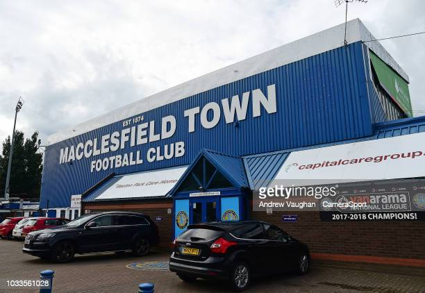 General view of Moss Rose home of Macclesfield Town prior to the Sky Bet League Two match between Macclesfield Town and Lincoln City at Moss Rose...