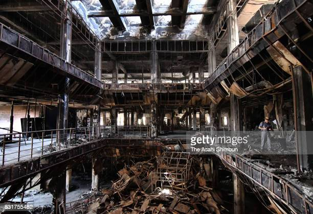 General view of Mosul University Central Library ahead of a month anniversary of the city's lieberation from the Islamic States on August 5, 2017 in...