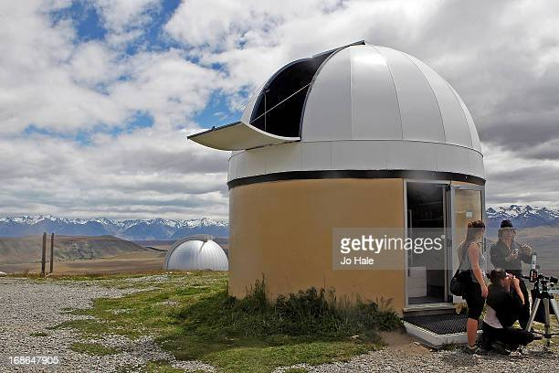 A general view of Mount John Observatory on December 15 2012 on Lake Tekapo Mackenzie Country of the South Island High Country of New Zealand