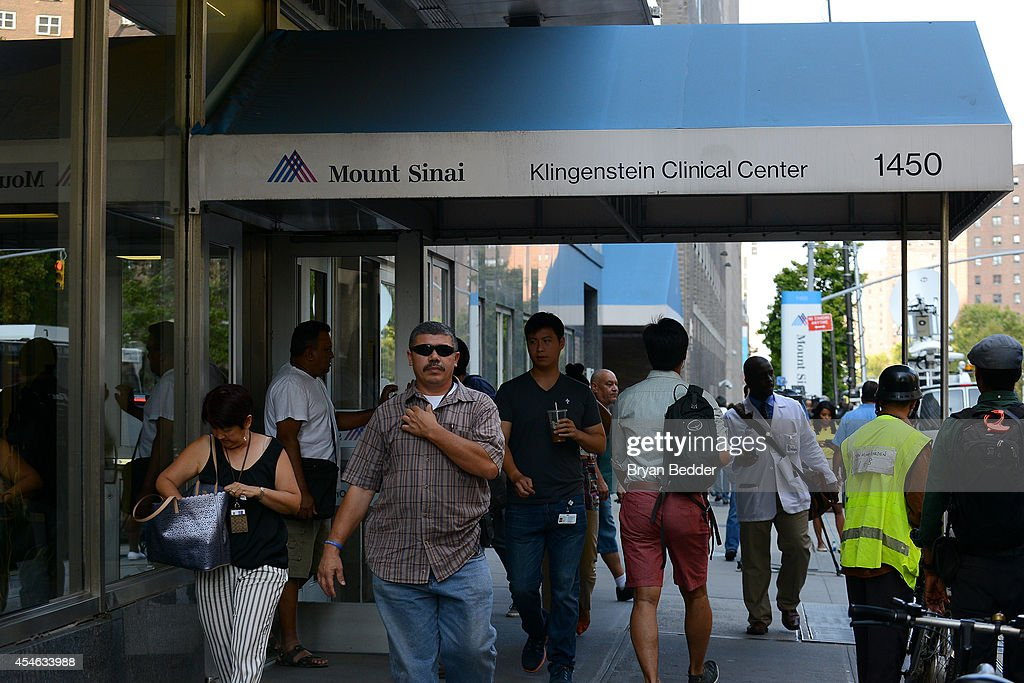A general view of Mount Sinai Hospital on September 4, 2014