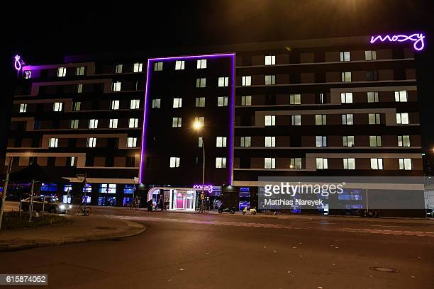 General view of Moxy Hotel at the Moxy Berlin Hotel Opening Party on October 20, 2016 in Berlin, Germany.