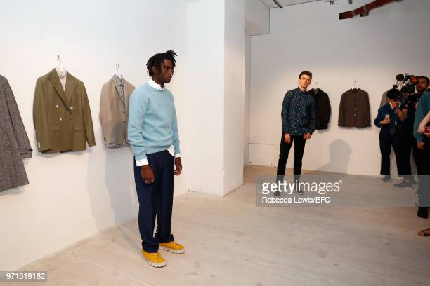 A general view of Mr Start at the DiscoveryLAB during London Fashion Week Men's June 2018 at the BFC Show Space on June 11 2018 in London England