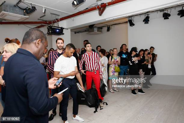 A general view of Mr Start presentation at the DiscoveryLAB during London Fashion Week Men's June 2018 at the BFC Show Space on June 11 2018 in...
