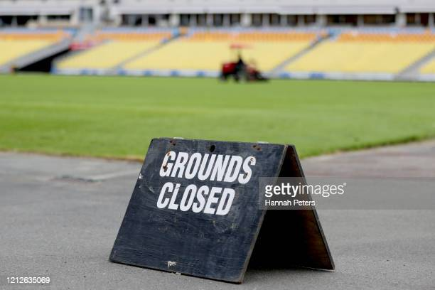 General view of Mt Smart Stadium ahead of a New Zealand Warriors NRL press conference at Mount Smart Stadium on March 16, 2020 in Auckland, New...