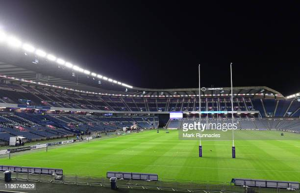 General view of Murrayfield Stadium ahead of the European Rugby Challenge Cup Round 3 match between Edinburgh Rugby and Wasps at Murrayfield Stadium...