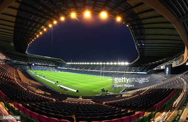 A general view of Murrayfield Stadium on February 5 2016 in Edinburgh Scotland
