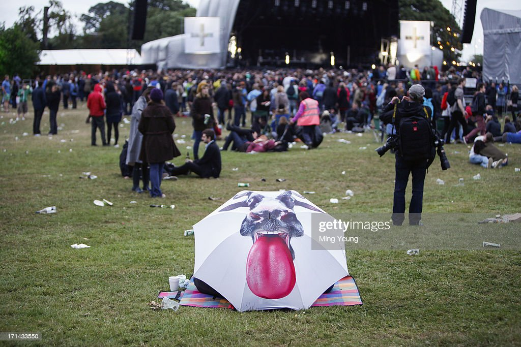 General view of music fans at The Night and Day Festival Hatfield House on June 23, 2013 in Hatfield, England.