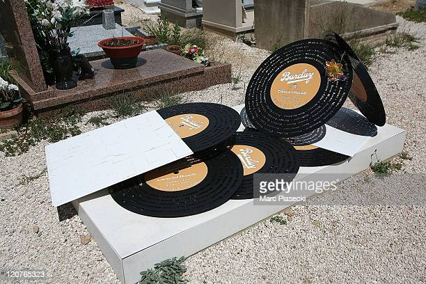 A general view of music producer Eddie Barclay's grave on August 9 2011 in St Tropez France