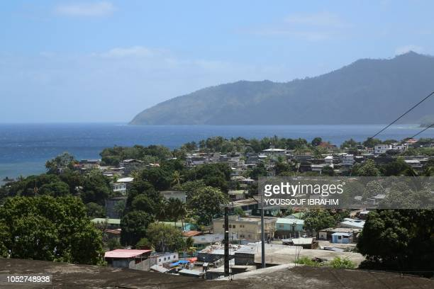 A general view of Mutsamudu's main district is seen on October 22 2018 on the Comoros island of Anjouan Residents on the Comoros island of Anjouan...