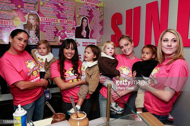 A general view of Nadya Octomom Suleman's children at Millions Of Milkshakes on November 10 2010 in West Hollywood California