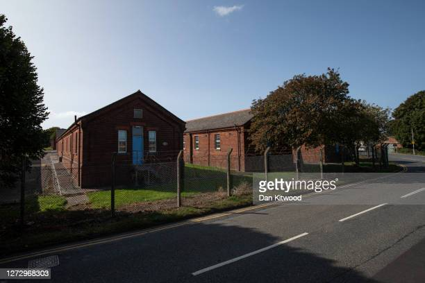 General view of Napier Army Barracks on September 17, 2020 in Folkestone, England. The Home Office is reportedly converting the decommissioned Napier...