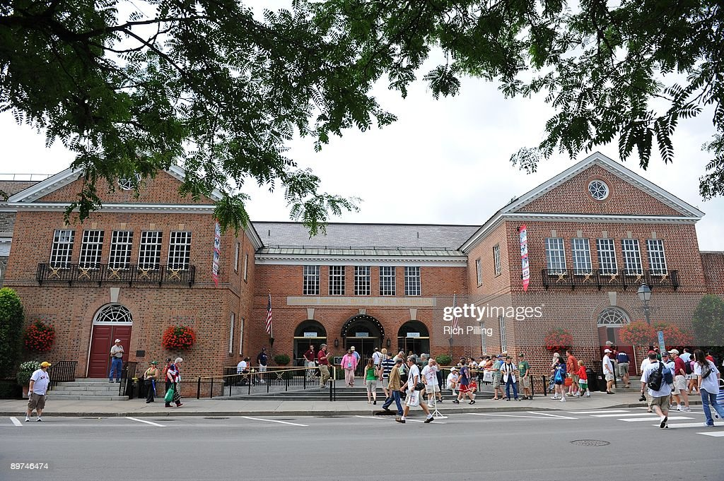 A general view of National Baseball Hall of Fame and Museum prior to the Baseball Hall of Fame Induction ceremonies at the Clark Sports Center in Cooperstown, New York on Sunday, July 26, 2009. (Photo by Rich Pilling/MLB Photos via Getty Images) ***
