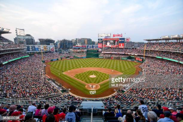 A general view of Nationals Park during the game between the New York Yankees and Washington Nationals on June 18 2018 in Washington DC
